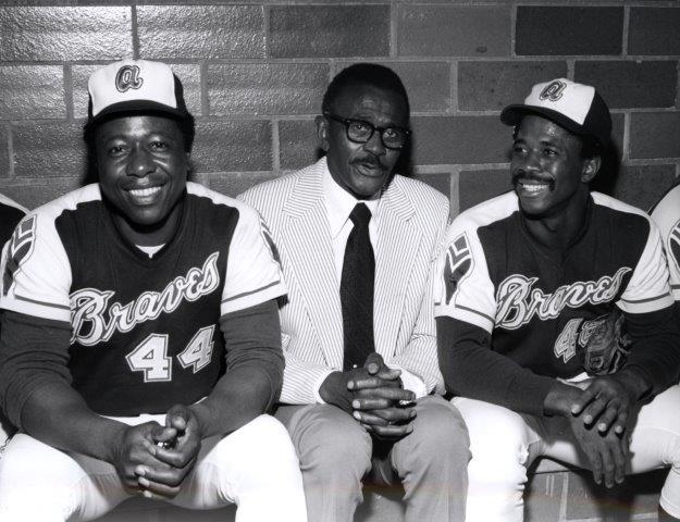Henry Aaron, Satchel Paige, Ralph Garr 1974