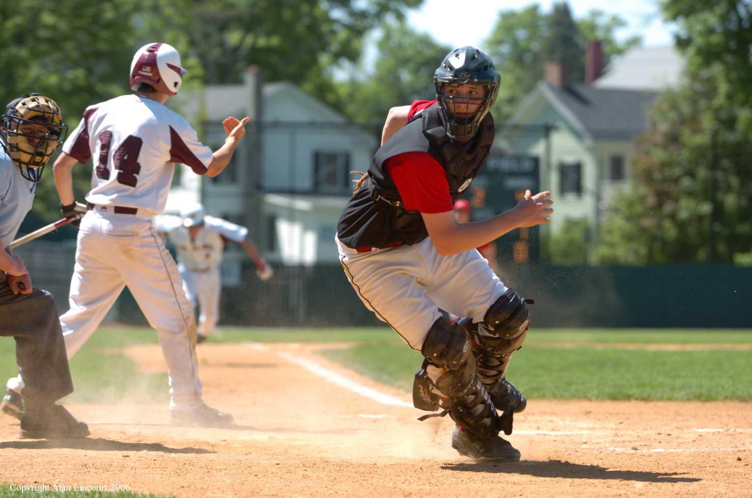 Lincourt Catcher batter runner umpire