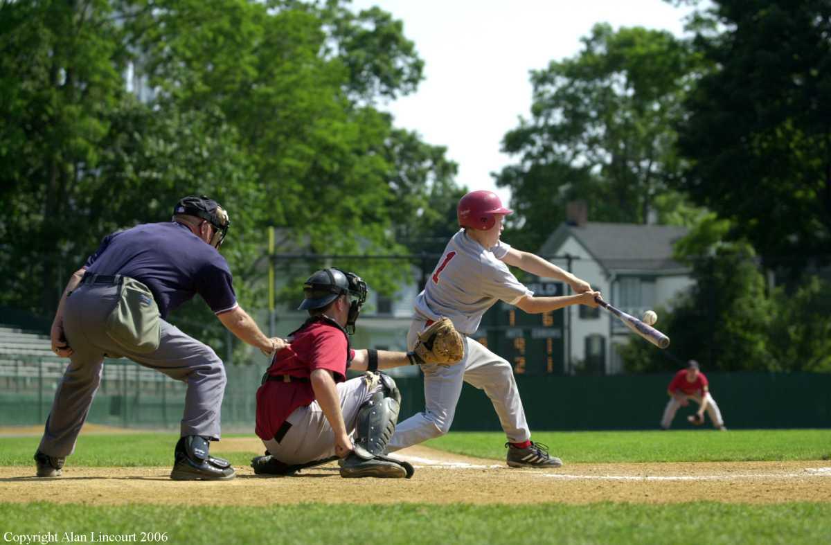 Lincourt Umpire catcher batter with ball