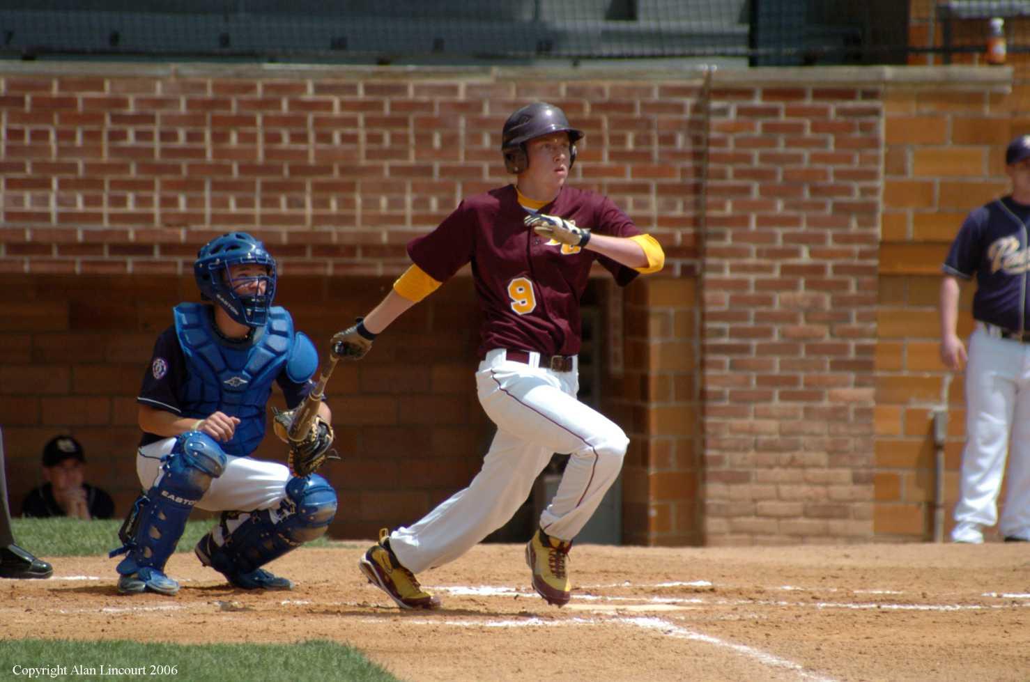 Lincourt catcher batter after swing